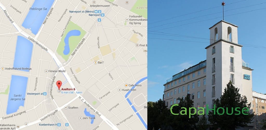 Map of location and Capahouse building